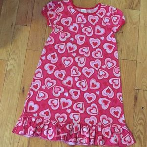 Nightgown with hearts design